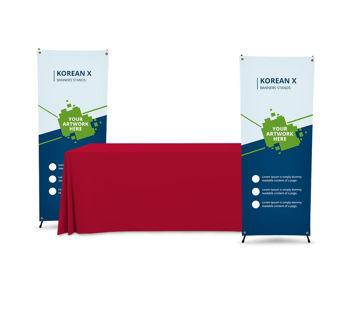 X Style Banner Stand | Trade Show Table Displays | BannerBuzz