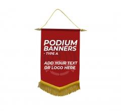 Custom Podium Banners - Type A