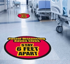Social Distancing Saves Lives Floor Decals