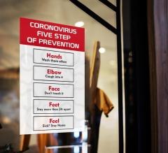 Coronavirus Five Steps of Prevention Window Clings