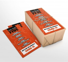 Do the Five Help Stop Spread Covid-19 Business Flyers (Non folded)