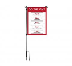 Do the Five Help Prevent Covid-19 Spread Garden Flags