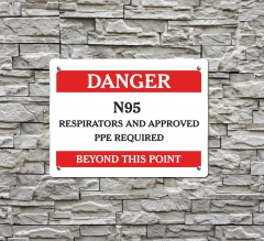 Danger Approved PPE Beyond this Point Compliance Signs