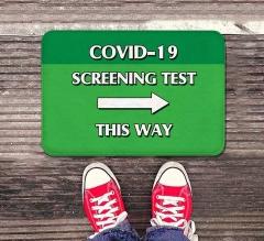 Covid-19 Screening This Way Indoor Floor Mats