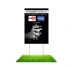Worship with Us on Livestream Yard Signs (Non reflective)