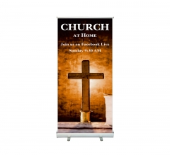 Church at Home Join Us on Facebook Roll up Banner Stands