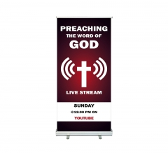 Preaching the Word of God Live stream Roll up Banner Stands