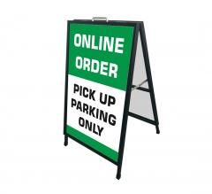 Online Order Pick Up Parking Only Metal Frames