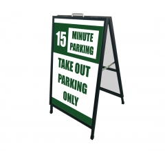 Take Out Parking Only Metal Frames