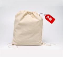 Free Cotton Clinch Bag