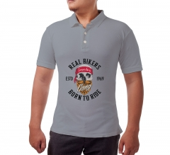 Custom Grey Polo Shirt - Printed