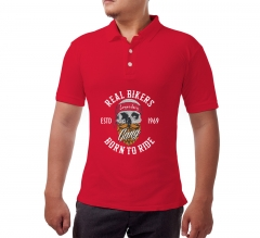 Custom Red Polo Shirt - Printed