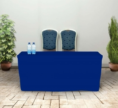 6' Fitted Table Covers - Blue