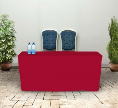 6' Fitted Table Covers - Red
