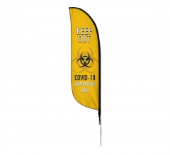 Pre-Printed Quarantine Area Feather Flag