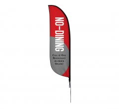 Pre-Printed No Dining Order Online Feather Flag