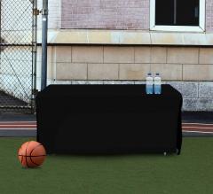 6' Open Corner Table Covers - Black