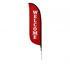 Pre-Printed Welcome Feather Flag