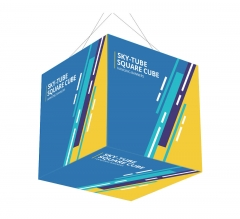 Sky Tube Square Cube Hanging Banners