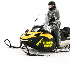 Snowmobile Lettering