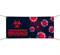 Vinyl Precaution Banners