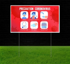 Reflective Yard Precaution Signs