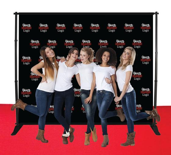 10 ft x 8 ft Step and Repeat Adjustable Banner Stands