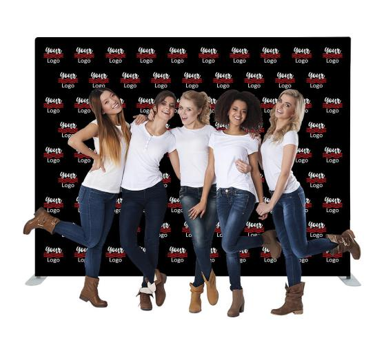 10 ft x 8 ft Step and Repeat Straight Pillow Case Backdrop