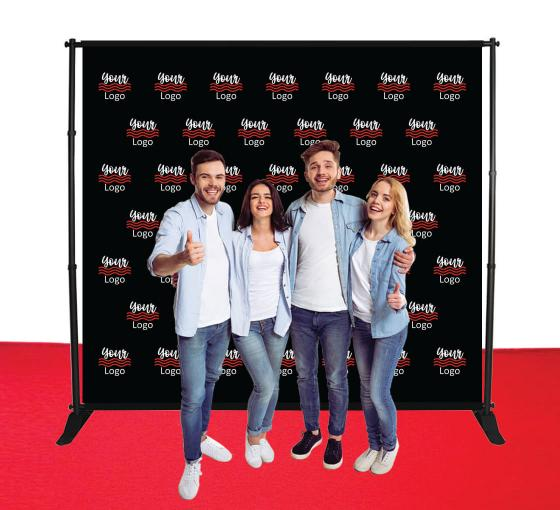 9 ft x 8 ft Step and Repeat Adjustable Banner Stands