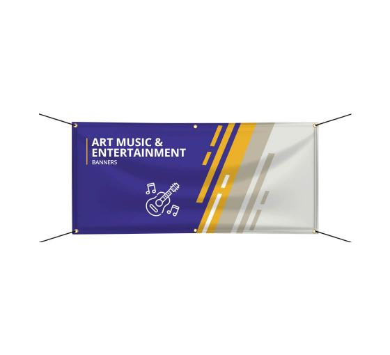 Art Music & Entertainment Banners