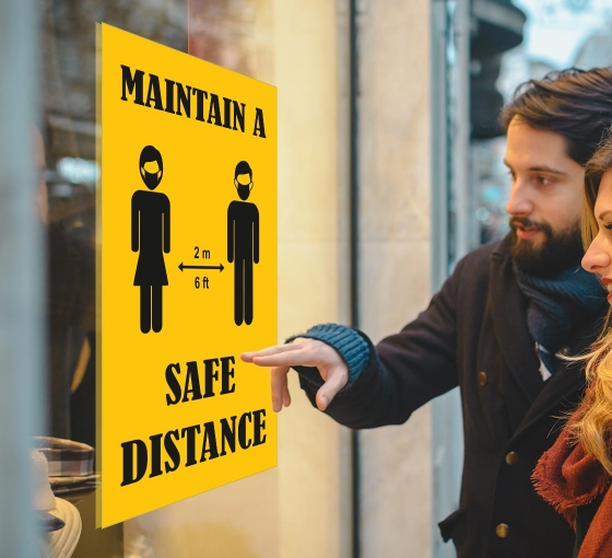 Maintain a Safe Distance Window Decals