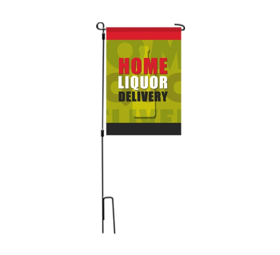 Home Liquor Delivery Available Garden Flags