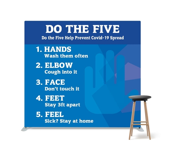 Do the Five Help Stop Spread Coronavirus Straight Pillow Case Backdrop