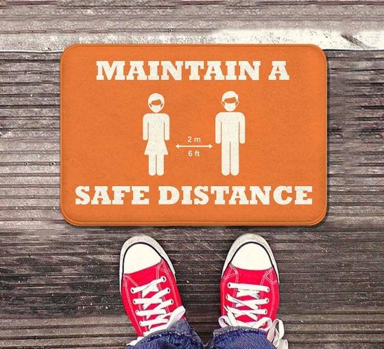 Maintain a Safe Distance Indoor Floor Mats