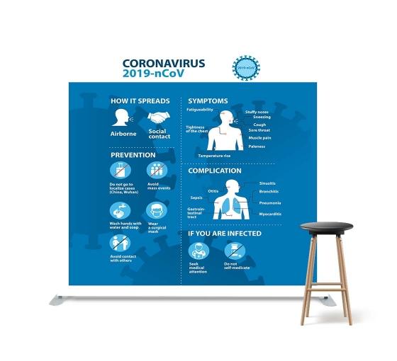 All About Coronavirus Disease Straight Pillow Case Backdrop
