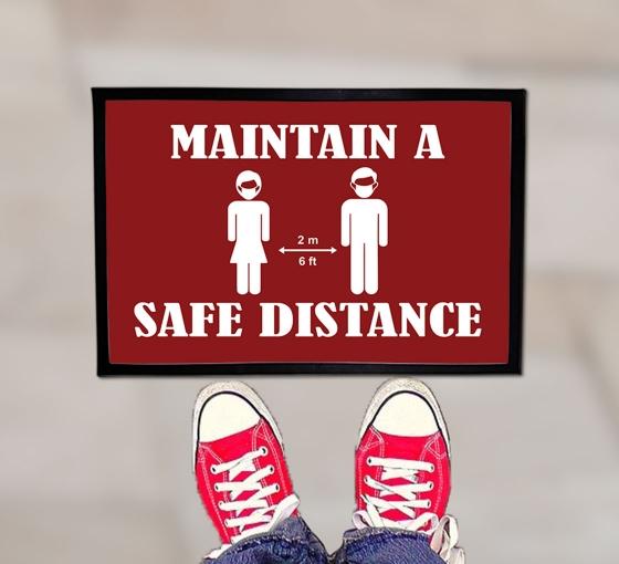 Maintain a Safe Distance Outdoor Floor Mats