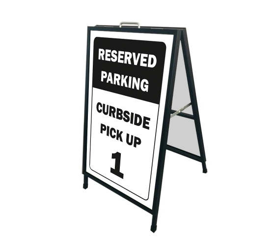 Reserved Parking Curbside Pick Up Metal Frames