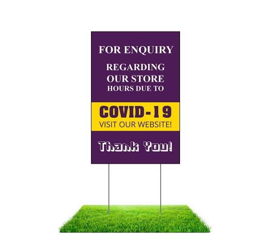 For Enquiry Visit our Website Yard Signs (Non reflective)