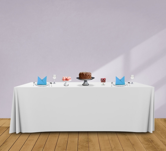 8' Convertible/Adjustable Table Covers - White