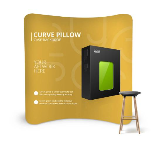 Curve Pillow Case Backdrop