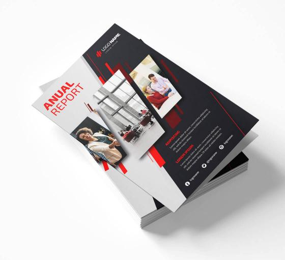 Folded Business Flyers