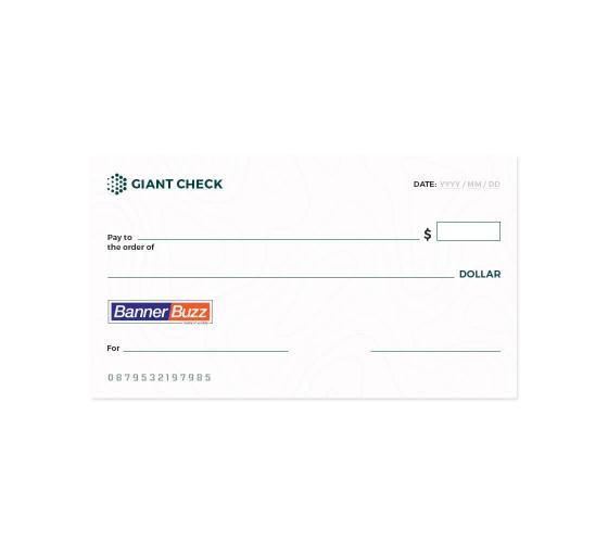 Custom Oversized Cheque