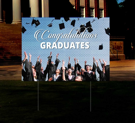 HIP Reflective Graduation Yard Signs