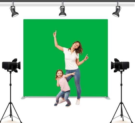 Green Screen Straight Pillow Case Background