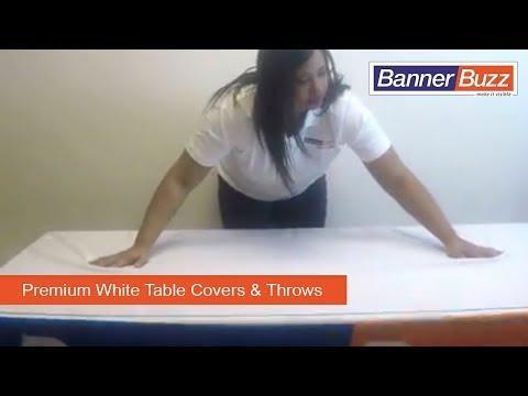 Premium White Table Throws