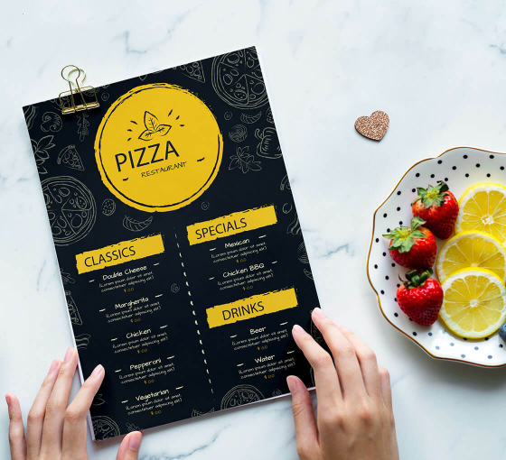 Personalise Takeaway Menu