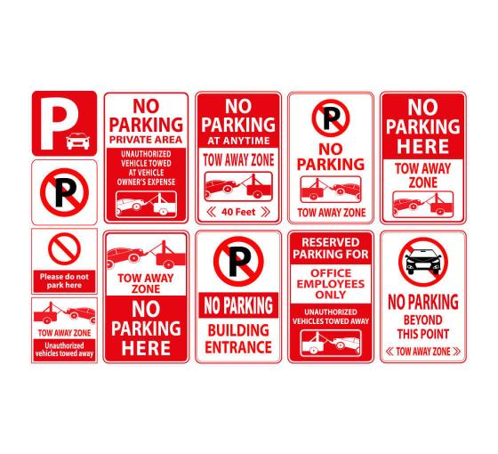 picture regarding Printable No Parking Signs called Style Personalized Parking Signs and symptoms, No Parking Signage On-line versus
