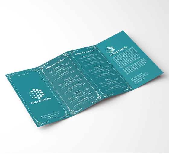 Personalise Pocket Menu