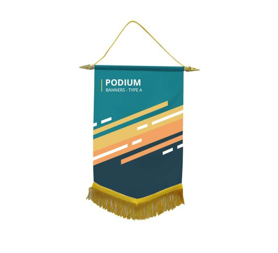 Custom Podium Banners - Type A
