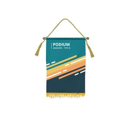 Custom Podium Banners - Type B